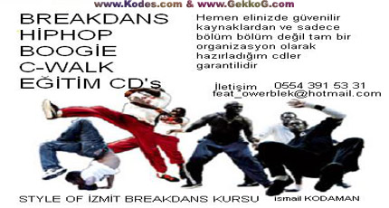 breakdans hiphop r&b c walk eğitim cd