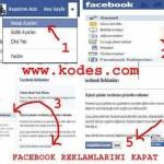 Facebook Reklamlarını Kapat